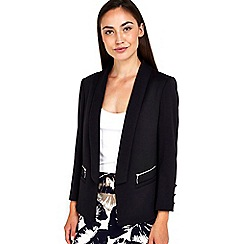 Wallis - Black ponte zip blazer