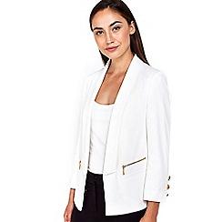 Wallis - Cream ponte zip blazer