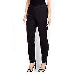 Wallis - Black print jacquard trouser