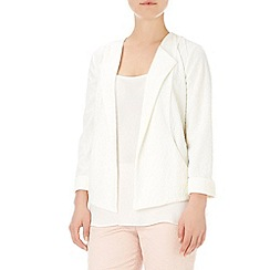 Wallis - Ivory textured jacket