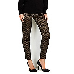 Wallis - Metallic jacquard trouser