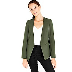 Wallis - Khaki smart blazer