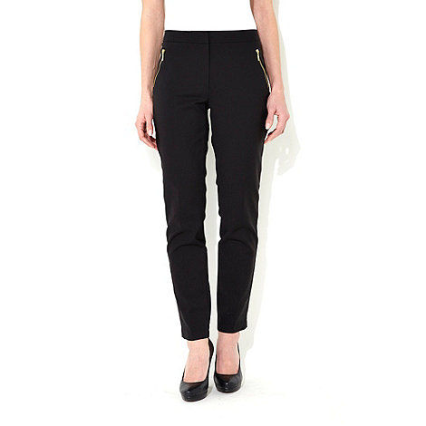 Wallis - Black zip detail trousers