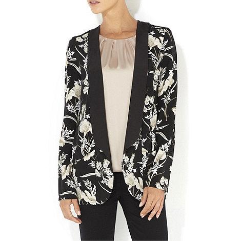 Wallis - Black and white oriental print jacket