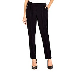 Wallis - Black button front trouser