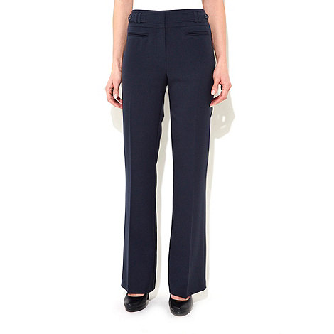 Wallis - Navy blue bootcut trousers
