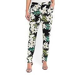 Wallis - Black floral print trousers