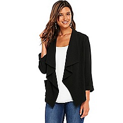 Wallis - Black waterfall jacket