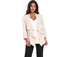 Wallis - Blush waterfall jacket