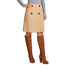 Wallis - Camel twill wrap skirt