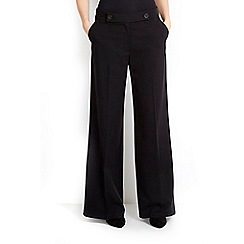 Wallis - Black twill wide leg