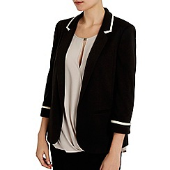 Wallis - Black stone tipped blazer