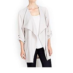 Wallis - Grey waterfall collar jacket
