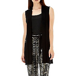 Wallis - Black zip pocket waistcoat