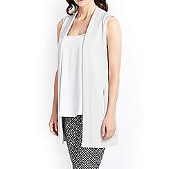 Wallis - Stone zip pocket waistcoat