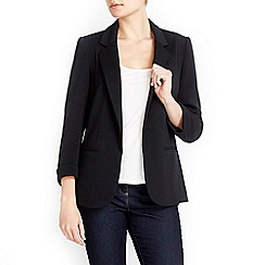Wallis - Black textured ponte jacket