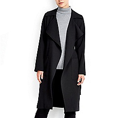 Wallis - Black crepe trench jacket