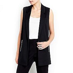 Wallis - Black ponte waistcoat