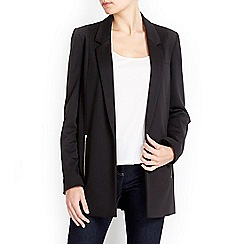 Wallis - Black longline ponte jacket