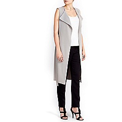 Wallis - Grey sleeveless duster jacket