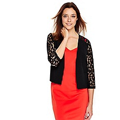 Wallis - Black lace sleeves jacket