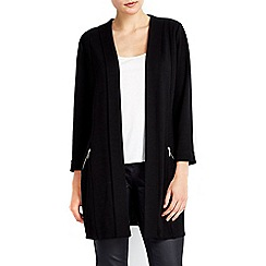 Wallis - Black morgan longline jacket
