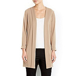 Wallis - Camel diagonal morgan longline jacket