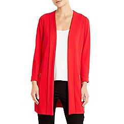 Wallis - Red morgan longline jacket