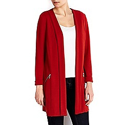 Wallis - Rust diagonal morgan longline jacket