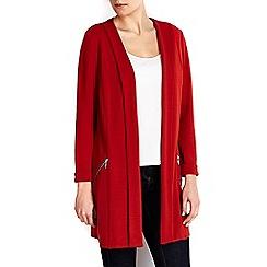 Wallis - Rust diagonal morgan longline jacket