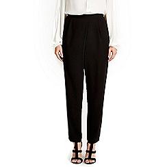 Wallis - Black wrap tapered trouser