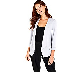 Wallis - Silver zip pocket jacket