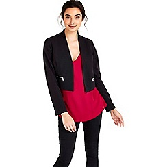 Wallis - Black zip pocket blazer