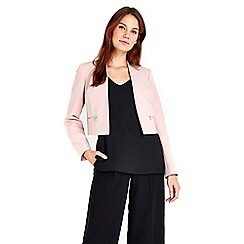 Wallis - Blush zip pocket blazer