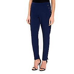 Wallis - Navy button pocket trousers