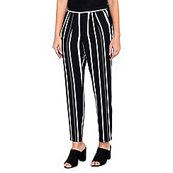 Wallis - Striped tapered trousers
