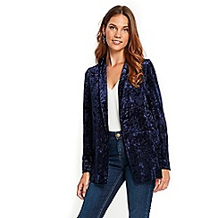 Wallis - Navy crushed velvet jacket