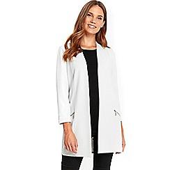 Wallis - Grey longline blazer jacket