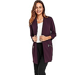 Wallis - Purple longline scuba jacket