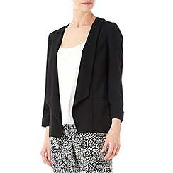 Wallis - Black daisy crepe jacket