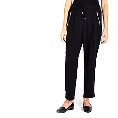 Wallis - Black zip pocket joggers