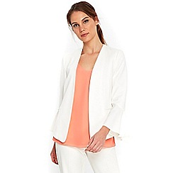 Wallis - Ivory flute sleeves jacket