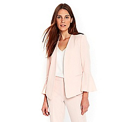 Wallis - Blush flute sleeves jacket
