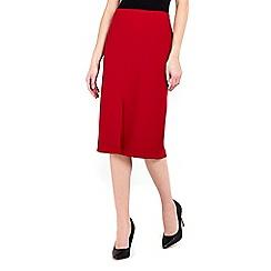 Wallis - Red split front pencil skirt