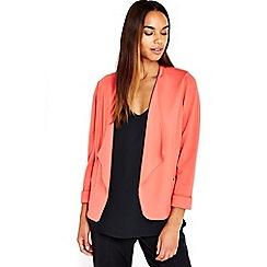Wallis - Coral midi blazer jacket
