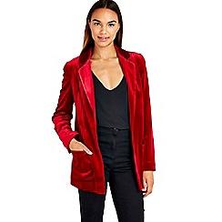 Wallis - Red velvet jacket