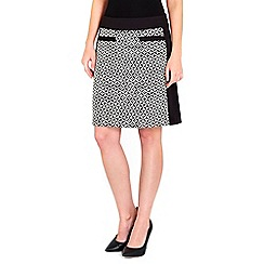 Wallis - Monochrome printed skirt