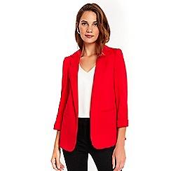 Wallis - Red ribbed jacket