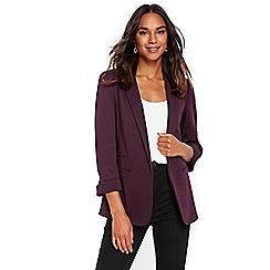 Wallis - Purple ribbed jacket