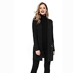 Wallis - Black longline jacket